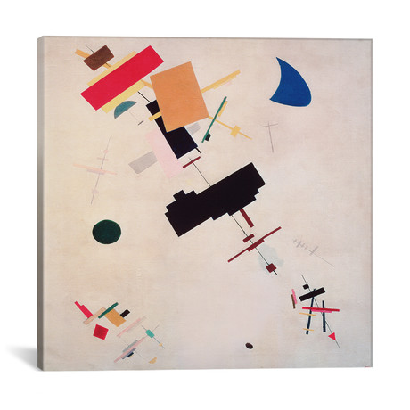 """Suprematist Composition No.56 // Kazimir Severinovich Malevich // 1916 (18""""W x 18""""H x 0.75""""D)"""