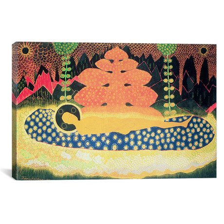 "Composition // Kazimir Severinovich Malevich // 1908 (18""W x 26""H x 0.75""D)"