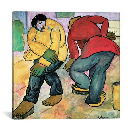 "The Floor Polishers, 1911 // Kazimir Severinovich Malevich (18""W x 18""H x 0.75""D)"