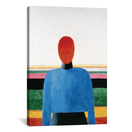 "Bust of Woman // Kazimir Severinovich Malevich (26""W x 18""H x 0.75""D)"