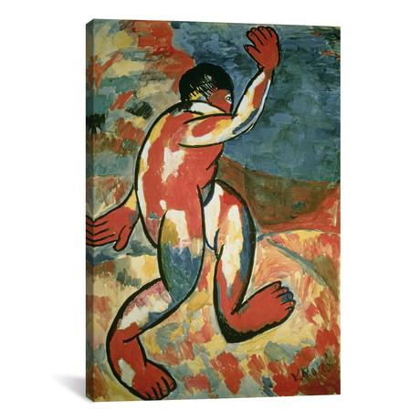 "A Bather // Kazimir Severinovich Malevich // 1911 (26""W x 18""H x 0.75""D)"