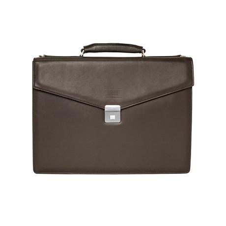 Patent Leather Briefcase Bag Shoulder Strap // Hazelnut Brown