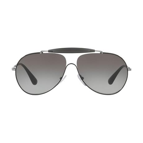 Prada // Men's Metal Sunglasses // Black Gunmetal + Gray Gradient