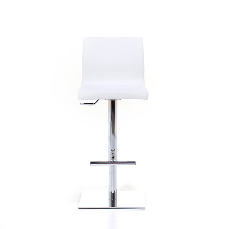 June SG Chrome Bar Stool // White