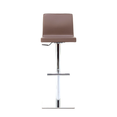 June SG Chrome Bar Stool // Taupe