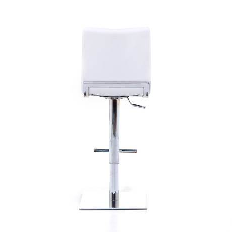 Condor SG Chrome Bar Stool // White
