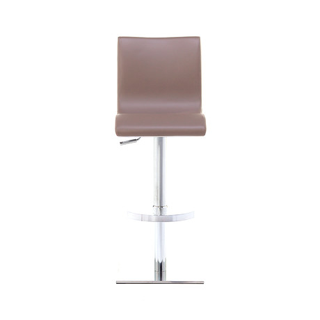 Condor SGT Brushed Steel Bar Stool // Taupe