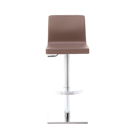 June SGT Brushed Steel Bar Stool // Taupe