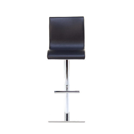 June SG Chrome Bar Stool // Black