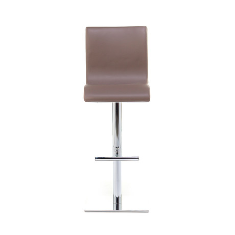 Condor SG Chrome Bar Stool // Taupe