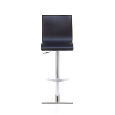 Condor SGT Brushed Steel  Bar Stool // Black