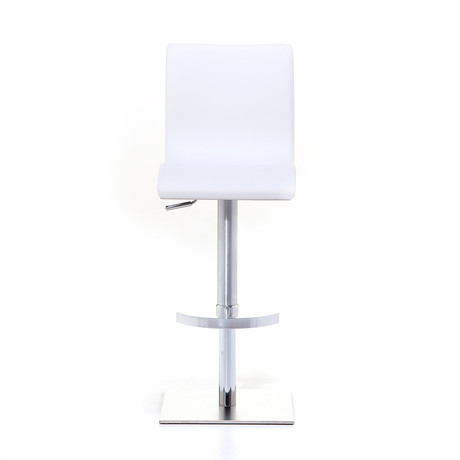Condor SGT Brushed Steel Bar Stool // White