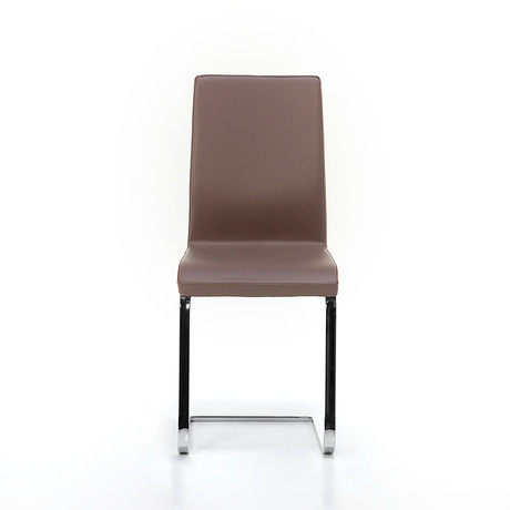 June SL Chrome Chair // Taupe