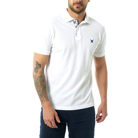 Marvin Short Sleeve Polo // White (XS)