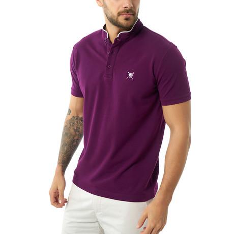 Callum Short Sleeve Polo // Purple (XS)