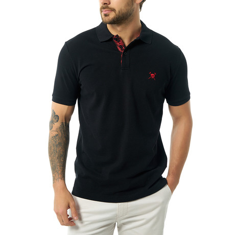 Guillermo Short Sleeve Polo // Black (XS)