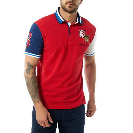 Vicente Short Sleeve Polo // Red (XS)
