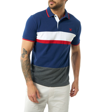 Jose Short Sleeve Polo // Navy (S)