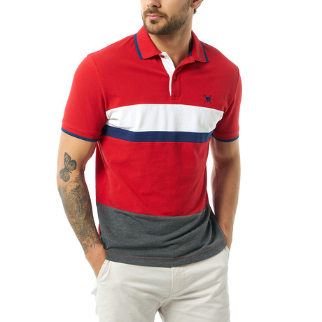 Ari Short Sleeve Polo // Red (S)