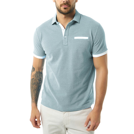 Jonas Short Sleeve Polo // Indigo (XS)