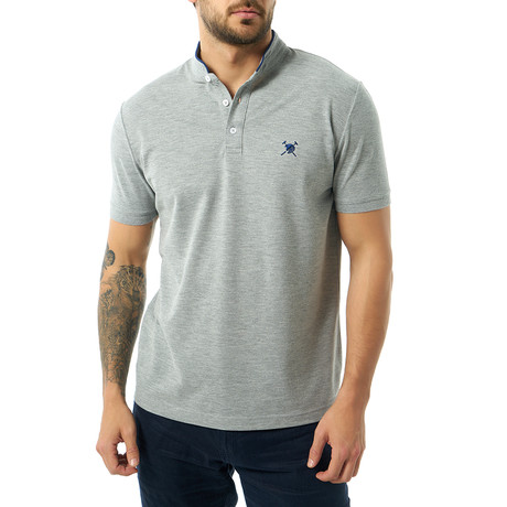 William Short Sleeve Polo // Gray Melange (S)