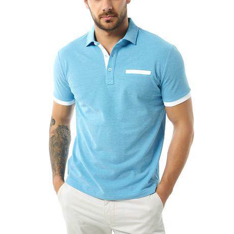 Levi Short Sleeve Polo // Baby Blue (XS)