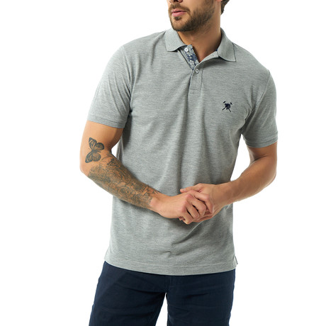 Yurem Short Sleeve Polo // Gray Melange (XS)