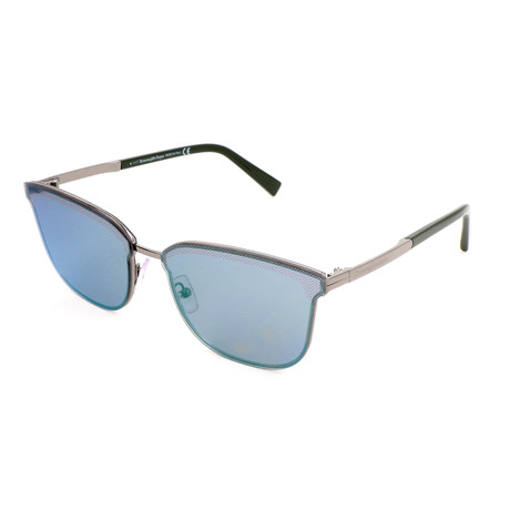Men's EZ0086 08Q Sunglasses // Shiny Gunmetal + Green Mirror