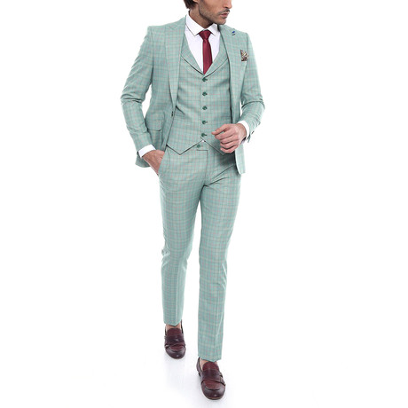 Frederic 3-Piece Slim-Fit Suit // Light Green (Euro: 44)