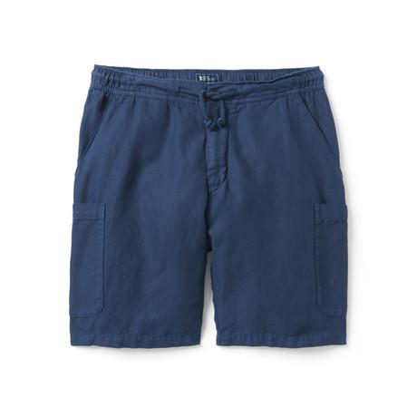 Linen Cotton Cargo Short // Navy (XS)