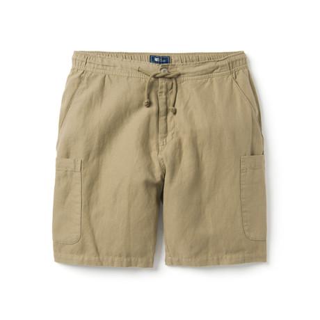Linen Cotton Cargo Short // Winter Twig (XS)