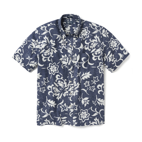 Pareau Royale Short Sleeve Button-Up // Peacoat (XS)