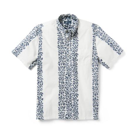 Summer Stripe Short Sleeve Button-Up // White Alyssum (XS)