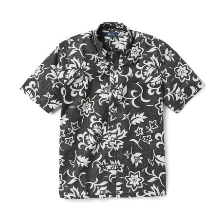 Pareau Royale Short Sleeve Button-Up // Black Onyx (XS)
