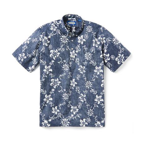 Summer Pareau Short Sleeve Button-Up // Peacoat (XS)