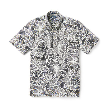 South Pacific Garden Short Sleeve Button-Up // Foggy Dew (XS)