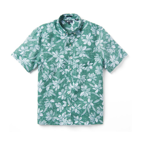 On My Lanai Short Sleeve Button-Up // Blue Spruce (XS)