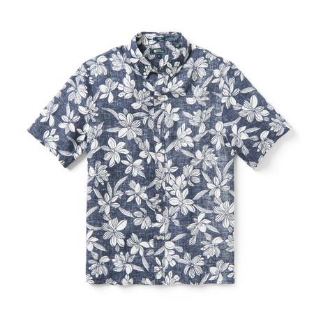 On My Lanai Short Sleeve Button-Up // Odyssey Grey (XS)