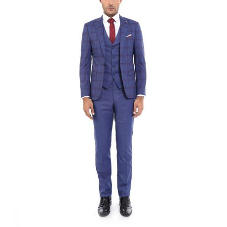 Garland 3-Piece Slim Fit Suit // Navy (Euro: 44)