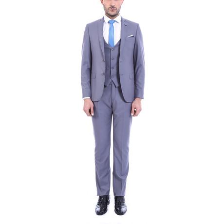 Salvador 3-Piece Slim Fit Suit // Slate (Euro: 44)