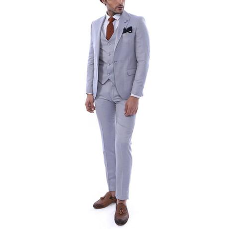 Zain 3-Piece Slim Fit Suit // Slate (Euro: 44)