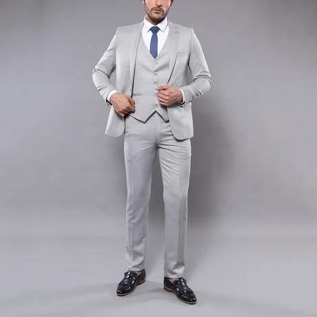 Roderick 3-Piece Slim Fit Suit // Gray (Euro: 44)
