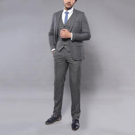 Wilson 3-Piece Slim Fit Suit // Smoke (Euro: 44)