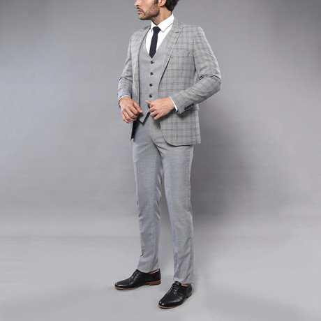 Melvin 3-Piece Slim Fit Suit // Gray (Euro: 42)