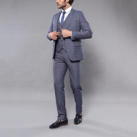 Reese 3-Piece Slim Fit Suit // Navy (Euro: 44)
