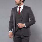 Louis 3-Piece Slim Fit Suit // Smoked (Euro: 46)