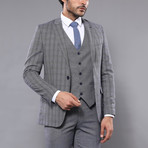 Xander 3-Piece Slim Fit Suit // Gray (Euro: 50)