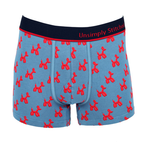 Unsimply Stitched // Balloon Animals Boxer Trunk // Slate (S)