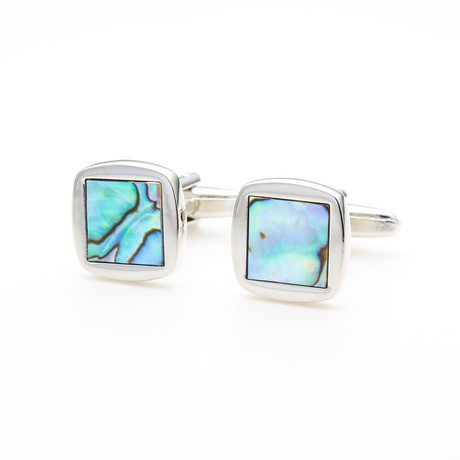 Abalone Shell Square Cufflink