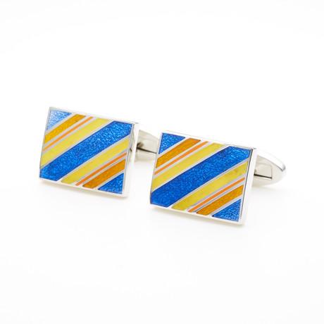Striped Cufflink // Multicolor